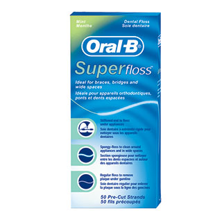 Soie dentaire Oral‑B® Superfloss®